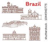 brazil architecture landmarks... | Shutterstock .eps vector #1044540775