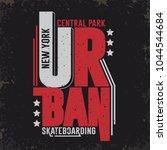 skate board new york typography ... | Shutterstock .eps vector #1044544684