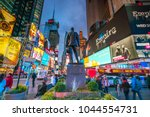 new york city   march 9  times... | Shutterstock . vector #1044554731