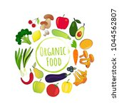 fruits and vegetables  organic... | Shutterstock .eps vector #1044562807
