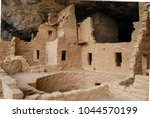 spruce tree house   ancestral... | Shutterstock . vector #1044570199