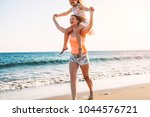 happy loving family mother and... | Shutterstock . vector #1044576721