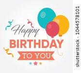 happy birthday calligraphic and ... | Shutterstock .eps vector #1044578101