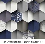 seamless pattern  ink marbling...