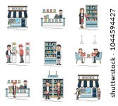 illustration of bookstore... | Shutterstock . vector #1044594427