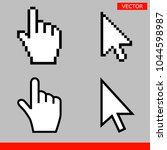 white arrow and pointer hand... | Shutterstock .eps vector #1044598987