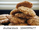 homemade anzac cookies with... | Shutterstock . vector #1044599677