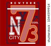 newyork district  t shirt... | Shutterstock .eps vector #1044599914