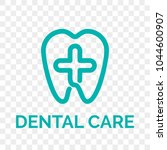 tooth logo icon for dentist or... | Shutterstock .eps vector #1044600907