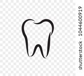 tooth logo icon for dentist or... | Shutterstock .eps vector #1044600919