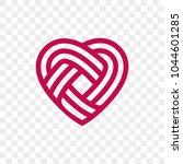 heart logo vector infinity loop ... | Shutterstock .eps vector #1044601285