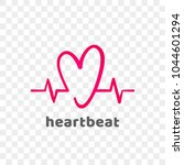 heart and heartbeat logo vector ... | Shutterstock .eps vector #1044601294