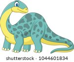 cartoon smiling brontosaurus | Shutterstock .eps vector #1044601834
