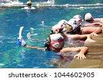 underwater hockey tournament | Shutterstock . vector #1044602905