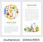 set flyers for health food...   Shutterstock .eps vector #1044619855