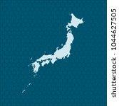 map of japan | Shutterstock .eps vector #1044627505