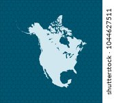 map of north america | Shutterstock .eps vector #1044627511