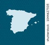 map of spain | Shutterstock .eps vector #1044627535