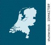 map of netherlands | Shutterstock .eps vector #1044627589
