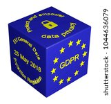 3d illustration. gdpr concept... | Shutterstock . vector #1044636079