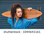 portrait of young attractive...   Shutterstock . vector #1044641161