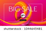 big sale banner design for... | Shutterstock .eps vector #1044645481