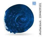 blue brush stroke and texture....   Shutterstock .eps vector #1044659101