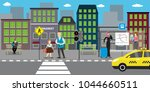 city street and road public... | Shutterstock .eps vector #1044660511
