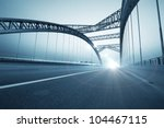 Stock photo the night of modern bridge 104467115