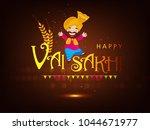 illustration of happy vaisakhi  ... | Shutterstock .eps vector #1044671977