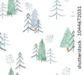 seamless pattern with christmas ...   Shutterstock . vector #1044672031