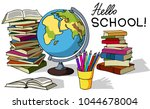 hello school. set of vector... | Shutterstock .eps vector #1044678004