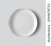white plate isolated on...   Shutterstock .eps vector #1044678715