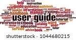 user guide word cloud concept.... | Shutterstock .eps vector #1044680215