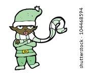 cartoon christmas elf | Shutterstock .eps vector #104468594