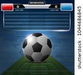 soccer or football template.... | Shutterstock .eps vector #1044686845