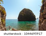 rocks and sea | Shutterstock . vector #1044695917