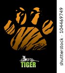 Tiger Paw And Fur   Vector...