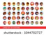 social network user avatars... | Shutterstock .eps vector #1044702727