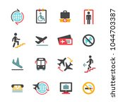 airport icons set | Shutterstock .eps vector #1044703387