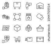 flat vector icon set   gift... | Shutterstock .eps vector #1044705514