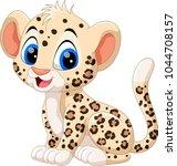 cute baby leopard cartoon    Shutterstock .eps vector #1044708157