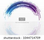 blue technology circle white...   Shutterstock .eps vector #1044714709