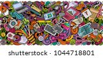 cartoon vector doodles art and... | Shutterstock .eps vector #1044718801