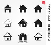 home icons vector | Shutterstock .eps vector #1044731617