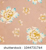 floral designs on paper  hand... | Shutterstock . vector #1044731764
