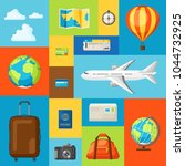 travel concept illustration.... | Shutterstock .eps vector #1044732925