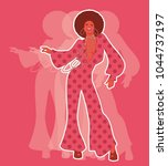 beautiful afro american girl... | Shutterstock .eps vector #1044737197