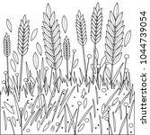 Field Of Wheat  Barley Or Rye....