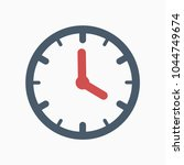 clock grey color circle red... | Shutterstock .eps vector #1044749674